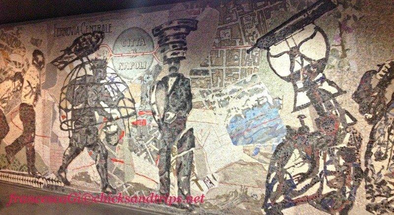 Mosaico di Kentridge alla stazione metro Toledo - Napoli