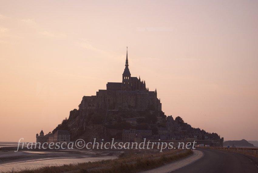 L'arrivo a Mont St. Michel