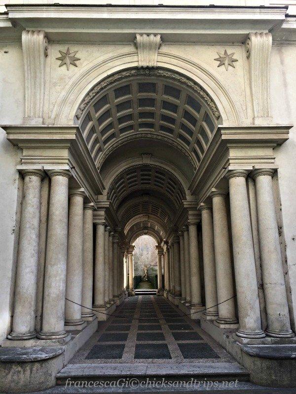prospettiva Borromini a Palazzo Spada