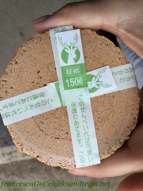 Crackers di crusca di riso a Nara
