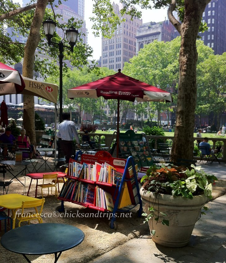 new york city parco bryant park fifth avenue