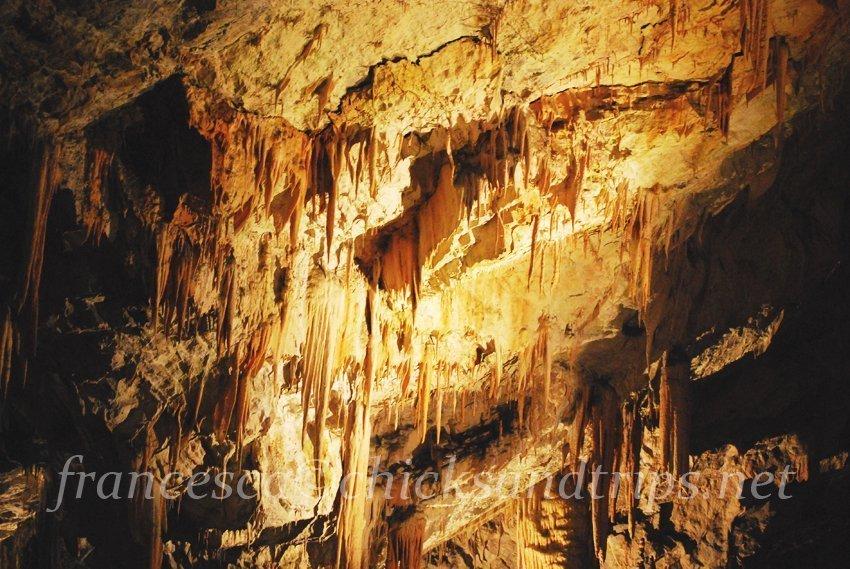 grotte di posutmia e il castello di predjama slovenia carso