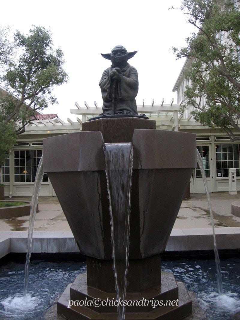 La Yoda Fountain!!!