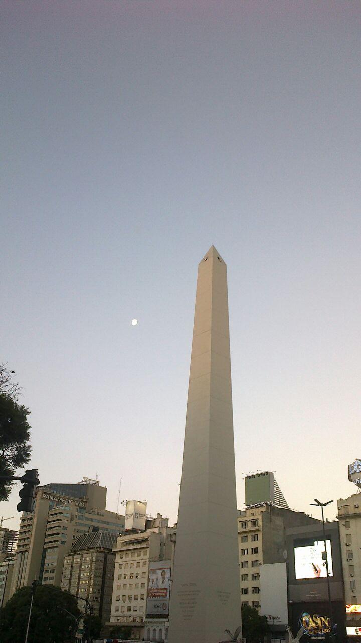 L'Obelisco al tramonto