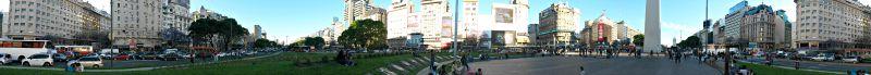Panoramica di Avenida 9 de Julio: la strada più larga del mondo.