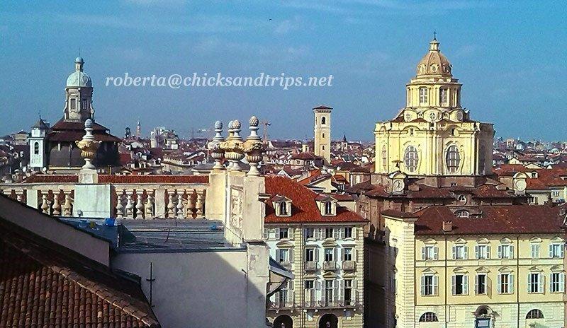 Vista sui tetti della città