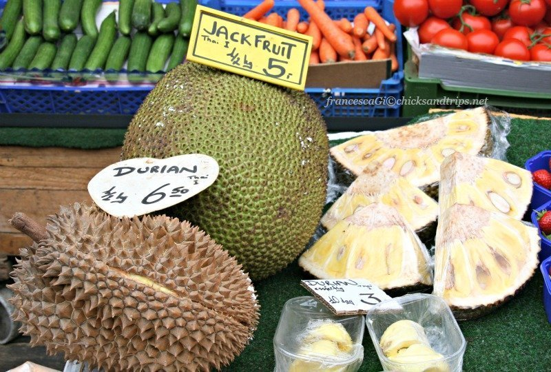 Jack fruit e durian