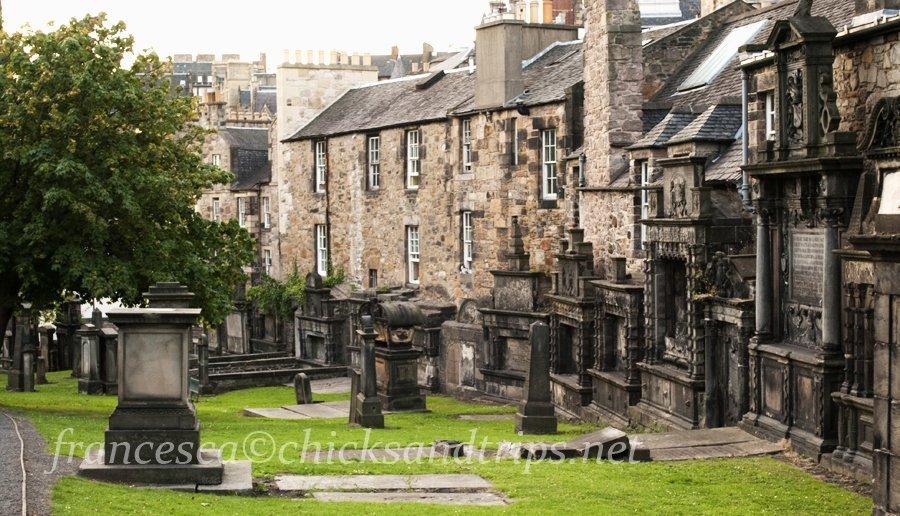 Edimburgo Scozia Cimitero Greyfriars