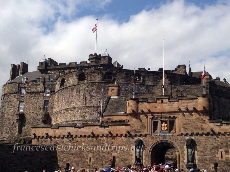 Edimburgo castello entrata