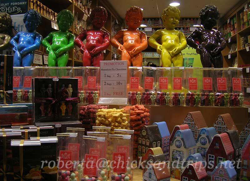 Vetrina negozio di cioccolato a Bruxelles