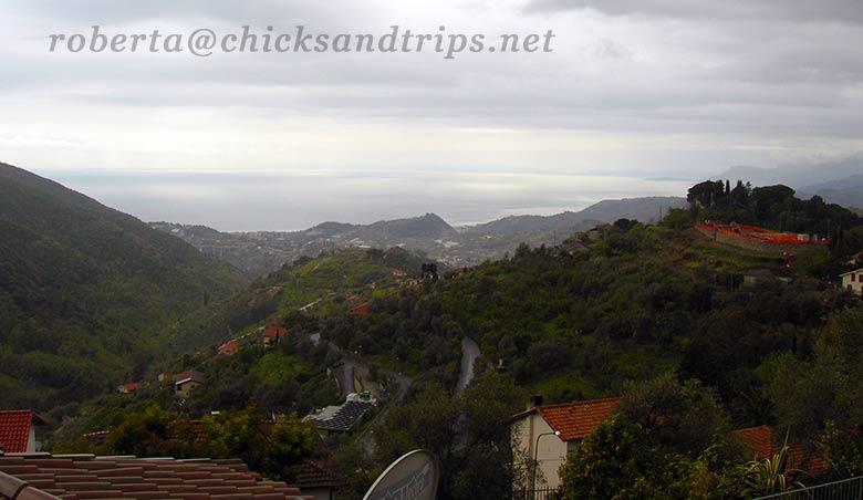 Vista sul mare dalle alture di Seborga