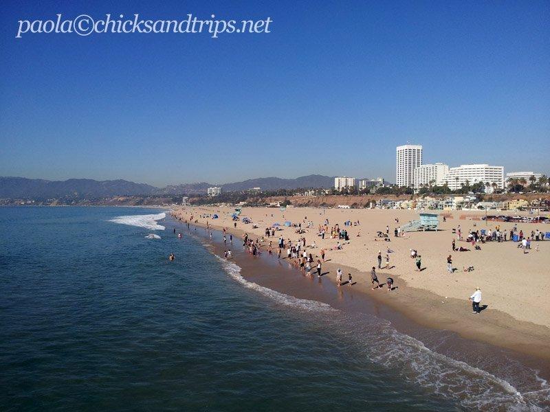 Vista dal Pier di Santa Monica