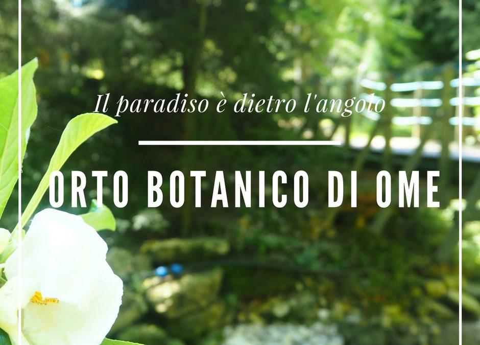 Il paradiso è dietro l'angolo: l'Orto botanico di Ome