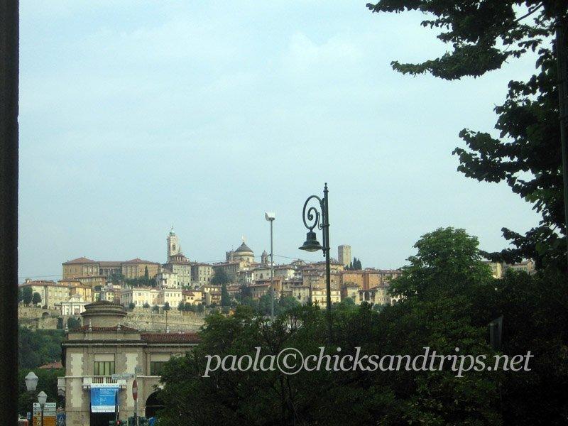Città Alta vista da Bergamo bassa