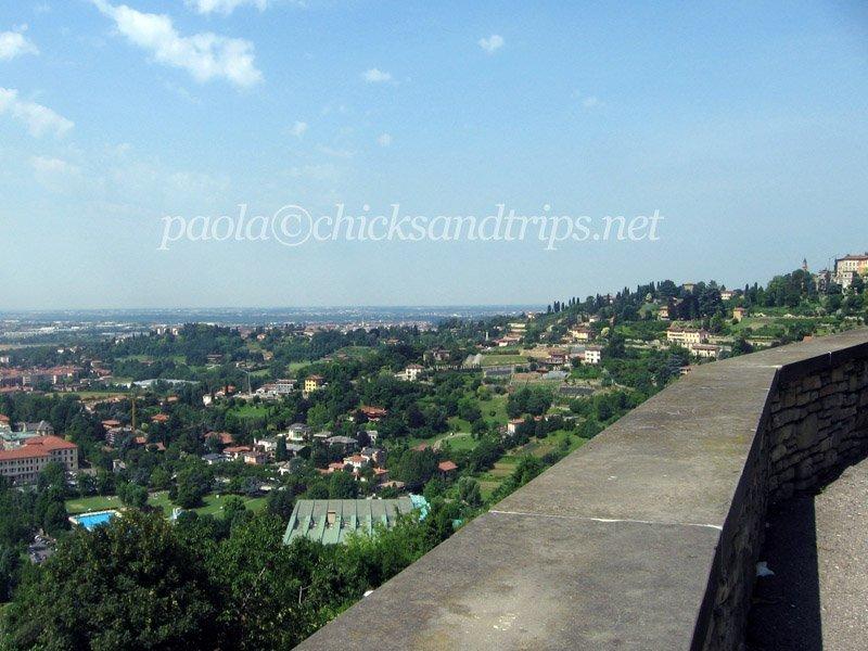 I colli visti dalle mura di Città Alta