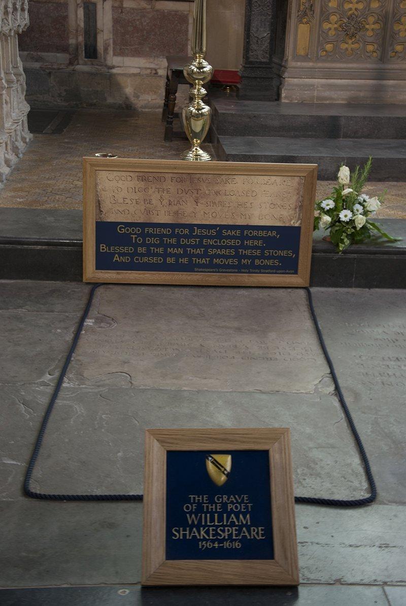 Stratford upon avon Tomba shakespeare holy trinity church