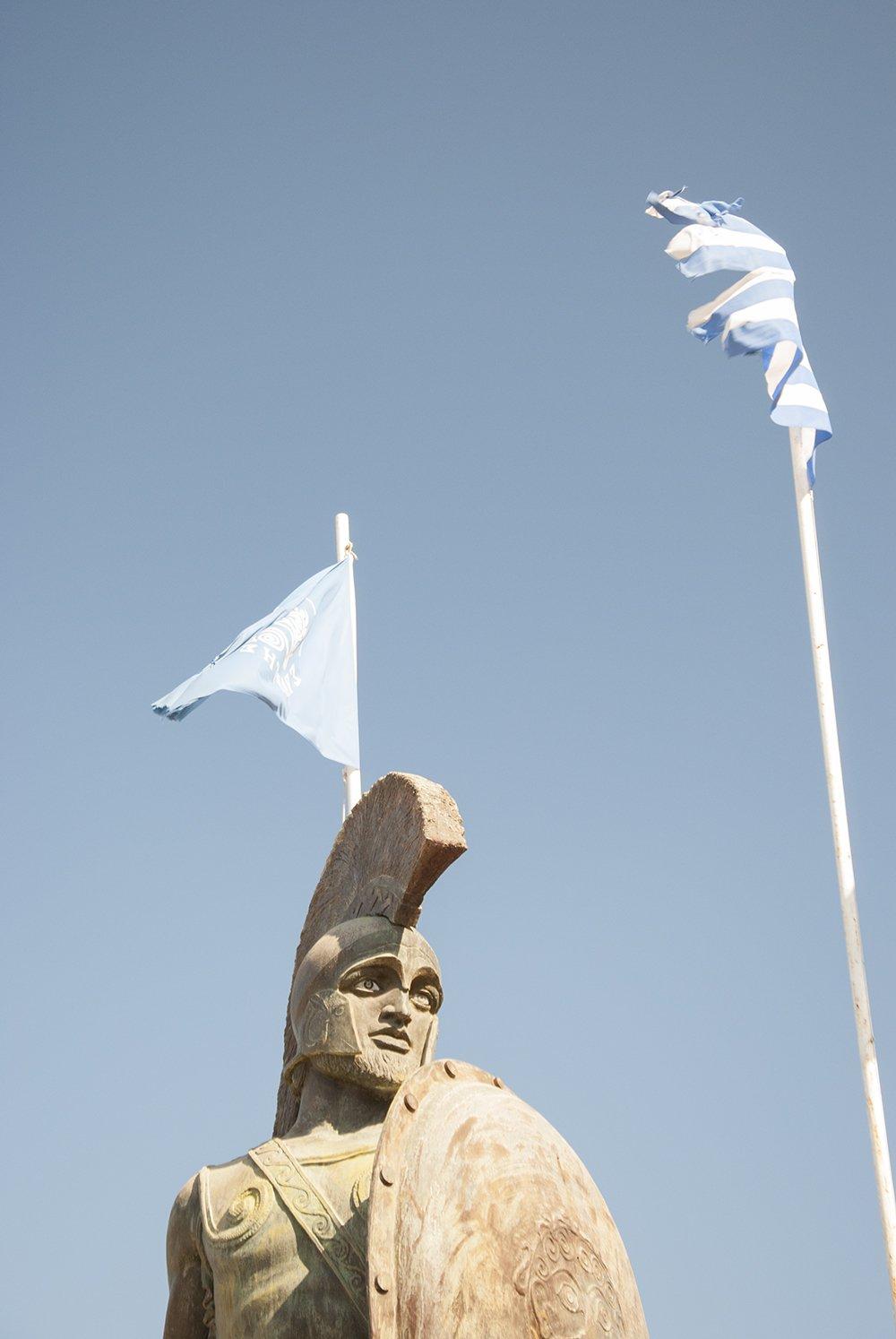 grecia sparta leonida statua