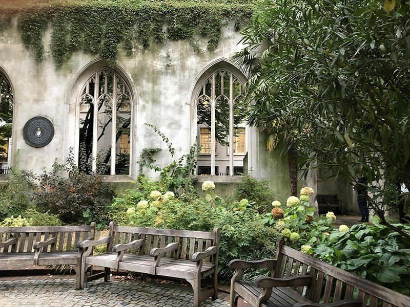 st dunstan in the east giardino segreto londra