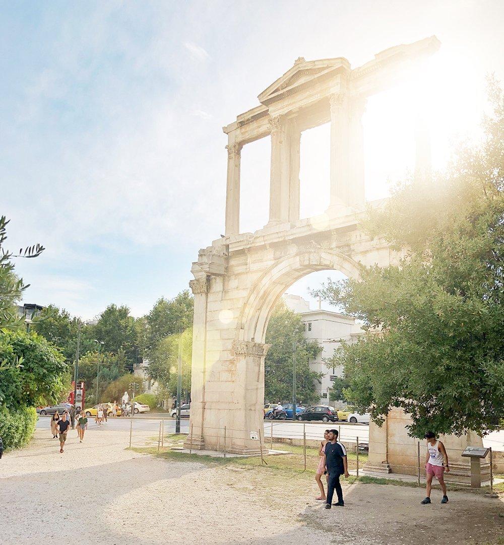 Porta di Adriano Atene grecia