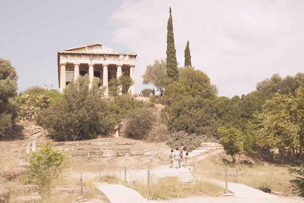 Atene agorà greca grecia