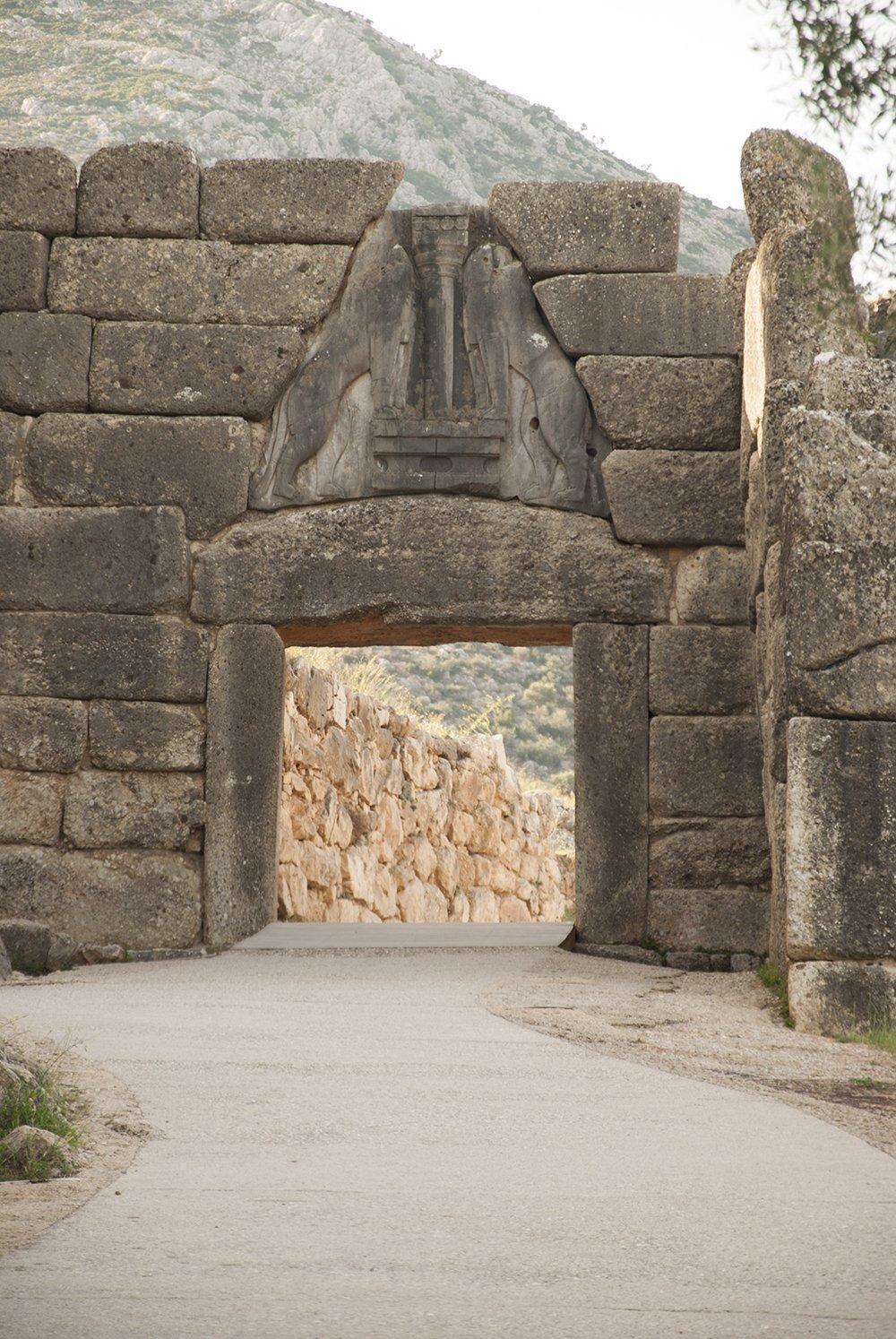 micene porta dei leoni mura ciclopiche