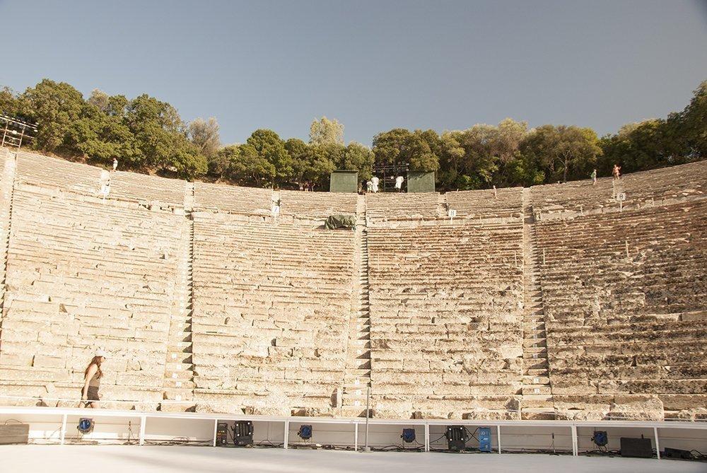 teatro epidauro itinerario peloponneso