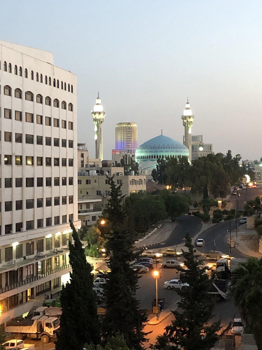 amman moschea tramonto