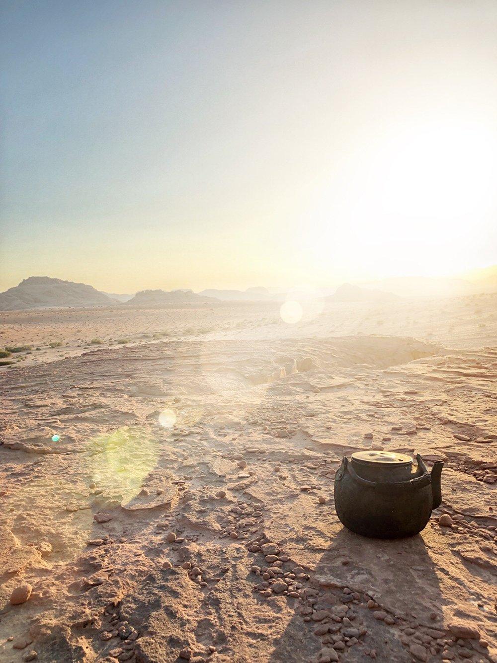 wadi rum tramonto the deserto