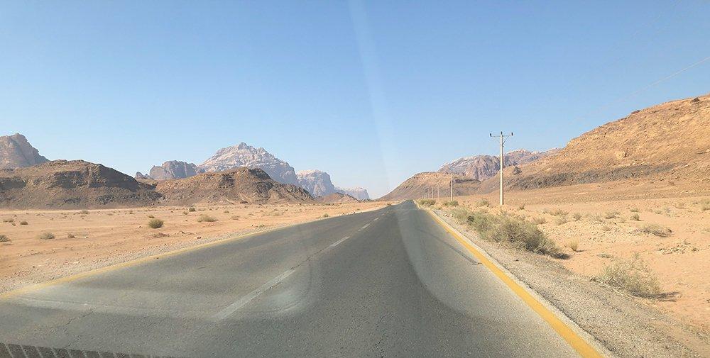 strad giordania on the road
