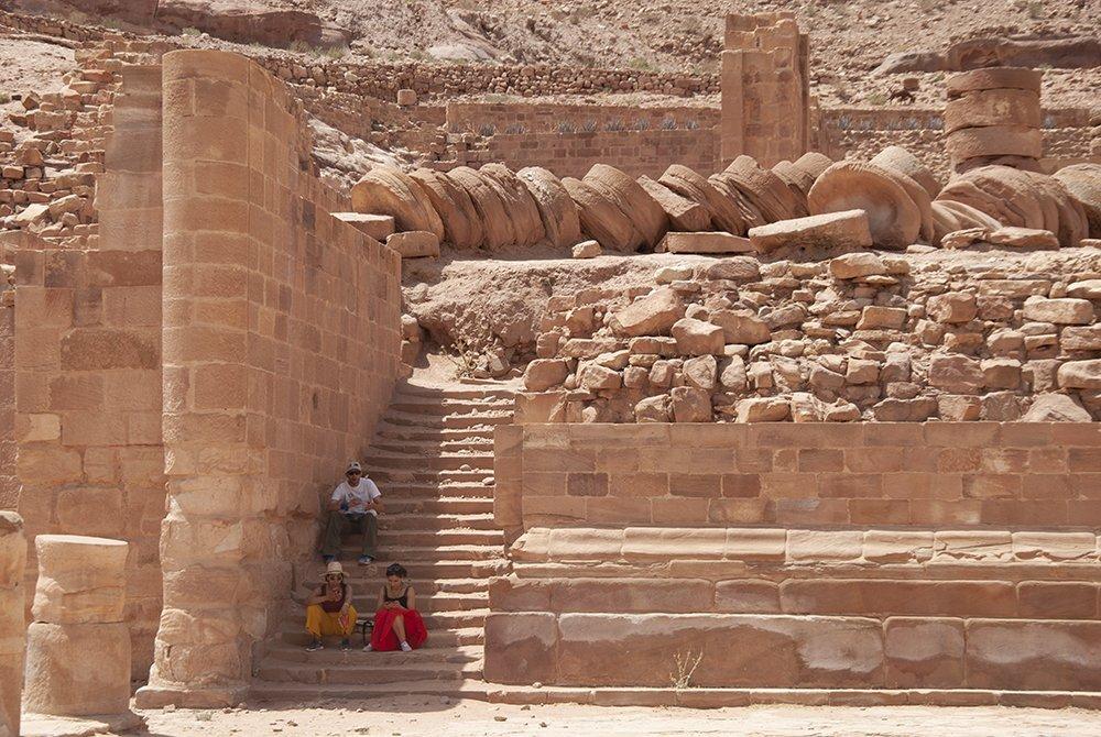 itinerario giordania petra tempio grande