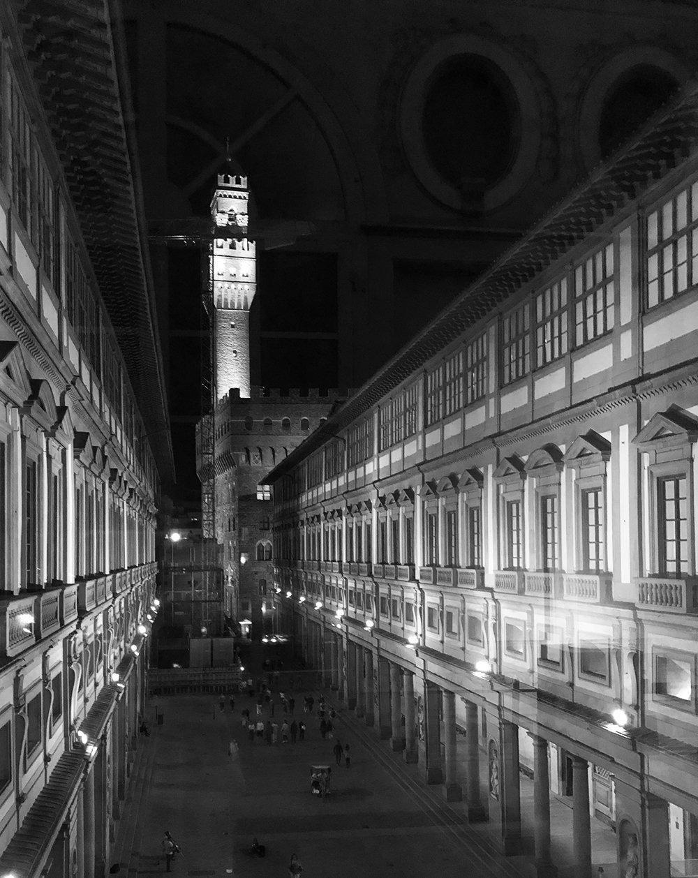firenze notte palazzo vecchio