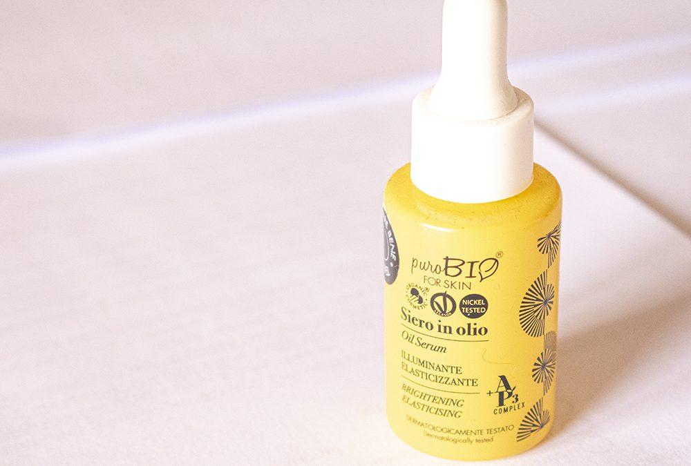 Siero in olio PuroBIO For Skin: pelle luminosa ed elastica anche in viaggio