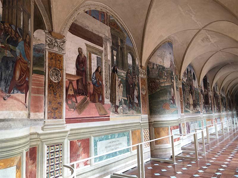 Cosa vedere nei dintorni di Siena: l'Abbazia di Monte Oliveto Maggiore