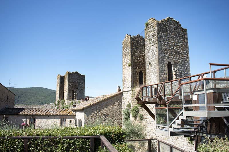 monteriggioni siena toscana castello