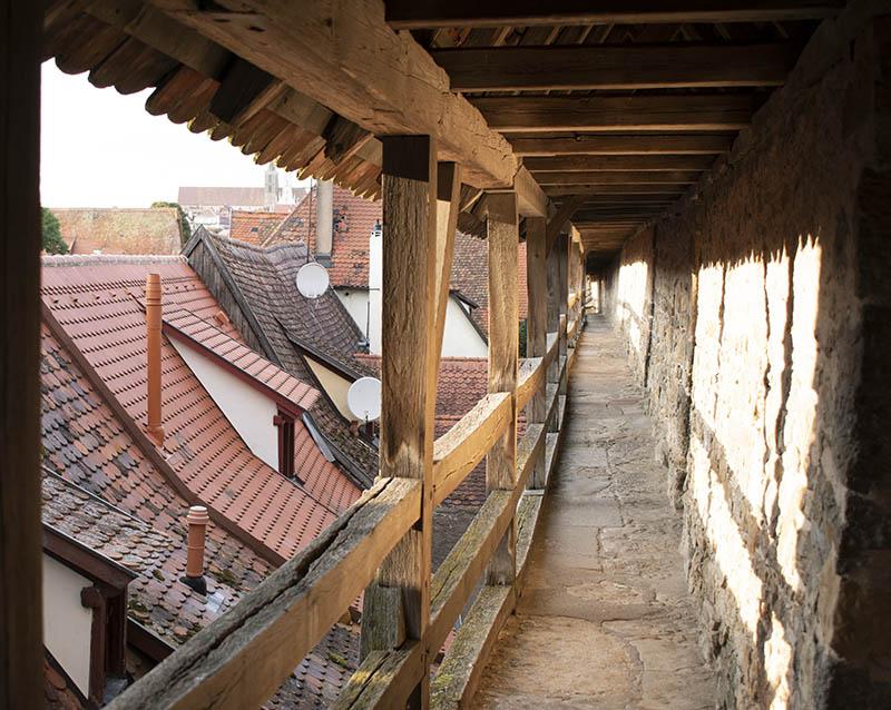 Rothenburg ob der Tauber mura cammino di ronda
